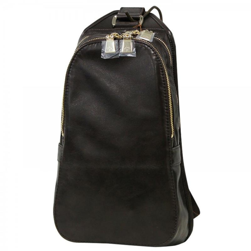 aniary ボディバッグ Antique leather 牛革 Body bag 01-07004-dbr
