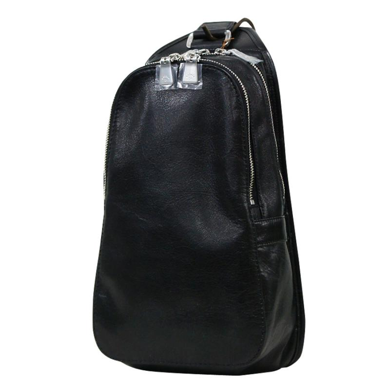 aniary ボディバッグ Antique leather 牛革 Body bag 01-07004-bk