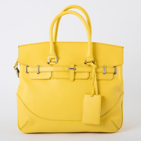 PELLE MORBIDA ボストンboston pmo-mb026po イエロー YELLOW