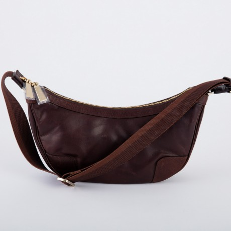 aniary ショルダーバッグ Oiled Paraffin Leather 牛革 Shoulder BR-03000-dbr