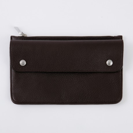 aniary クラッチバッグ Shrink leather 牛革 Clutchbag 07-08001-dbr
