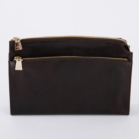 aniary クラッチバッグ Ideal leather 牛革 Clutchbag 11-08003-dbr
