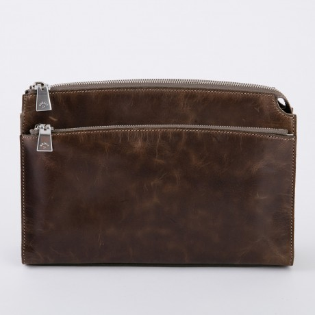 aniary クラッチバッグ Ideal leather 牛革 Clutchbag 11-08003-oak