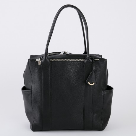 aniary トートバッグ Shrink leather 牛革 Totebag 07-02006-bk