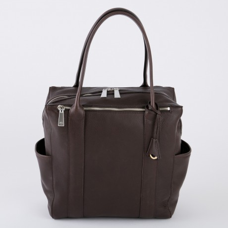 aniary トートバッグ Shrink leather 牛革 Totebag 07-02006-dbr