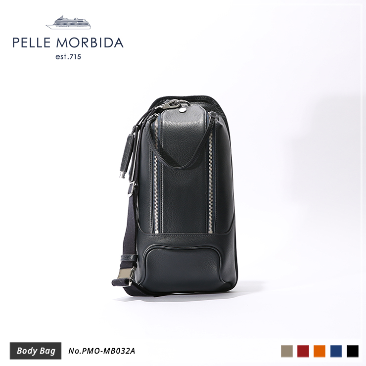 【PELLE MORBIDA|ペッレ モルビダ】ボディバッグ Maiden Voyage PMO-MB032A Navy
