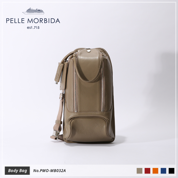 【PELLE MORBIDA|ペッレ モルビダ】ボディバッグ Maiden Voyage PMO-MB032A Taupe
