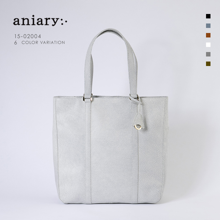 aniary トートバッグ Grind Leather 牛革 Totebag 15-02004-wh