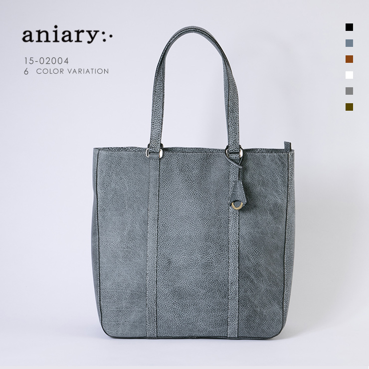aniary トートバッグ Grind Leather 牛革 Totebag 15-02004-bkwh