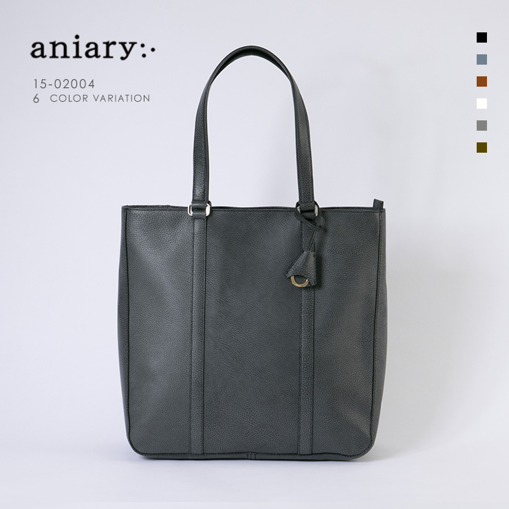 aniary トートバッグ Grind Leather 牛革 Totebag 15-02004-bk