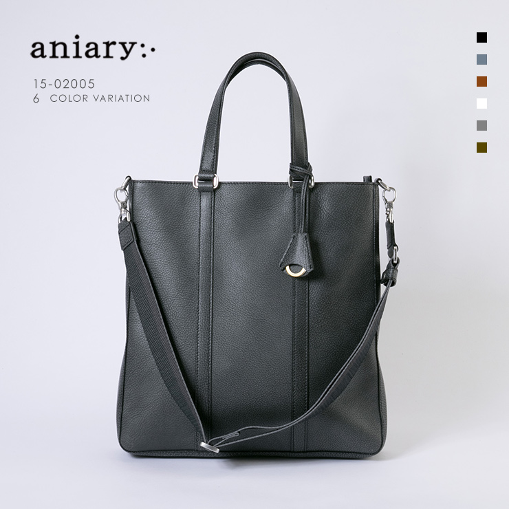 aniary トートバッグ Grind Leather 牛革 Totebag 15-02005-bk
