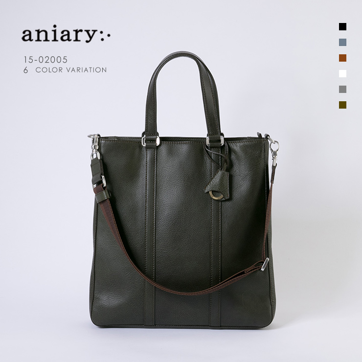aniary トートバッグ Grind Leather 牛革 Totebag 15-02005-khbr