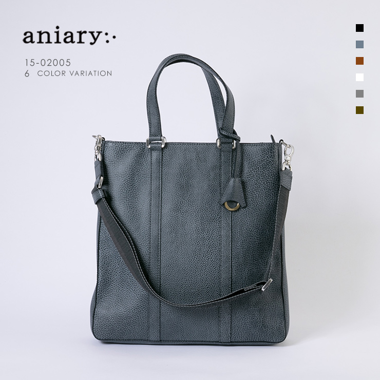 aniary トートバッグ Grind Leather 牛革 Totebag 15-02005-nvgy