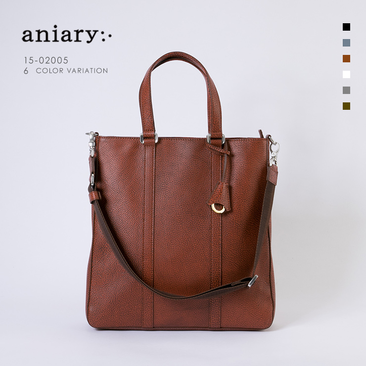 aniary トートバッグ Grind Leather 牛革 Totebag 15-02005-orbr