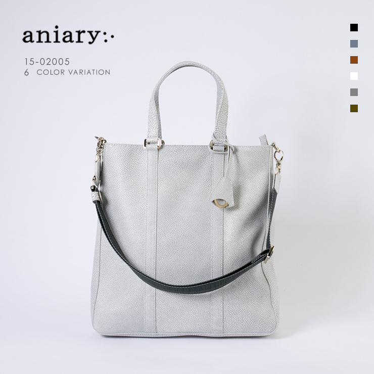 aniary トートバッグ Grind Leather 牛革 Totebag 15-02005-wh