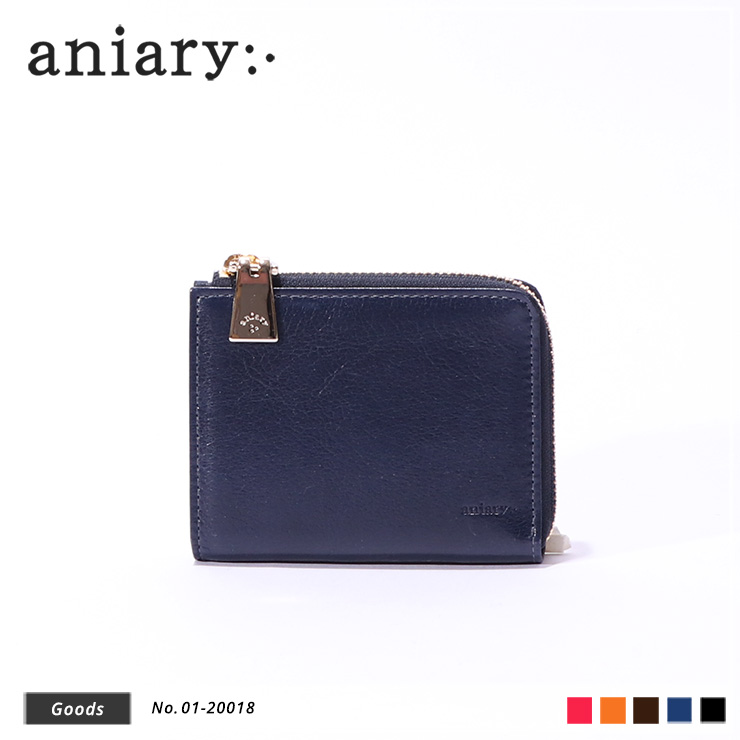 【aniary|アニアリ】ウォレット Antique Leather 01-20018 Dark Blue
