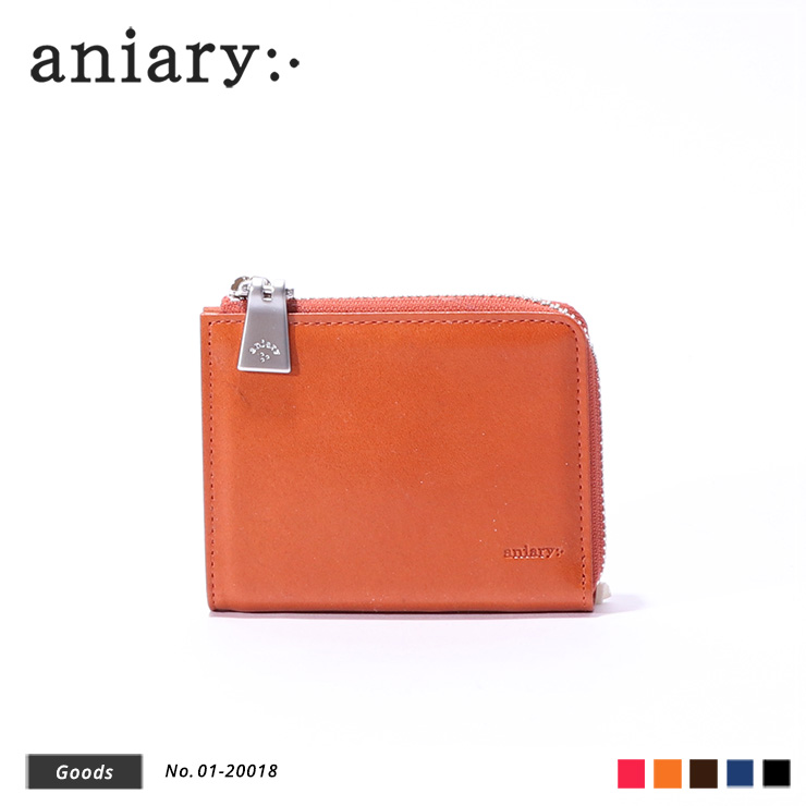 【aniary|アニアリ】ウォレット Antique Leather 01-20018 Dark Orange