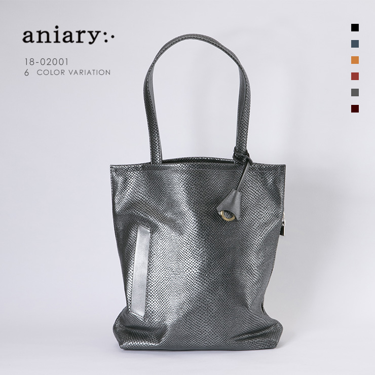 aniary トートバッグ Scale Leather 牛革 Totebag 18-02001-sbk
