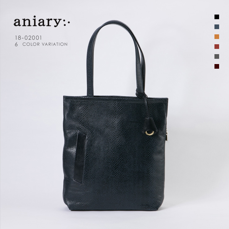 aniary トートバッグ Scale Leather 牛革 Totebag 18-02001-dbl