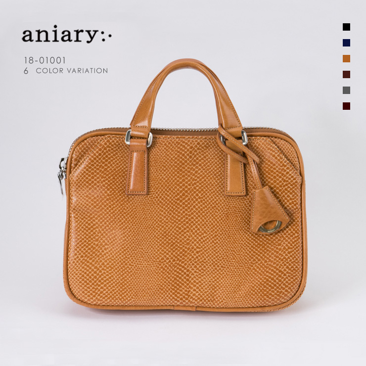 aniary ブリーフバッグ Scale Leather 牛革 Briefcase 18-01001-ca