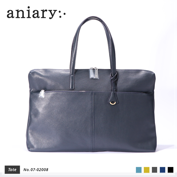 aniary トートバッグ Shrink leather 牛革 Totebag 07-02008-nv