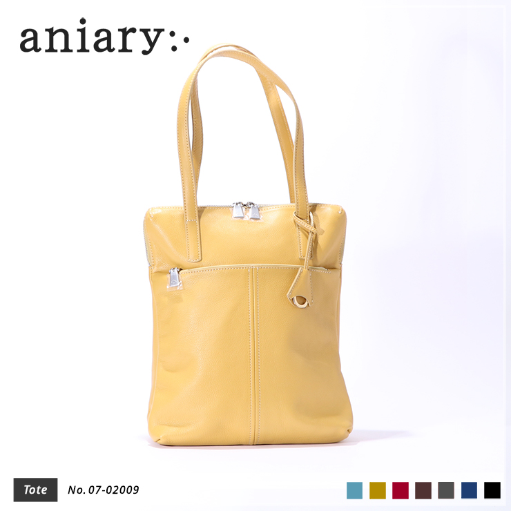 aniary トートバッグ Shrink leather 牛革 Totebag 07-02009-mus
