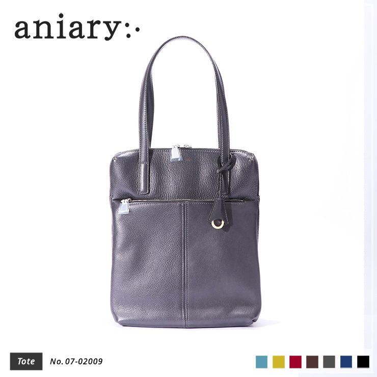 aniary トートバッグ Shrink leather 牛革 Totebag 07-02009-cgy