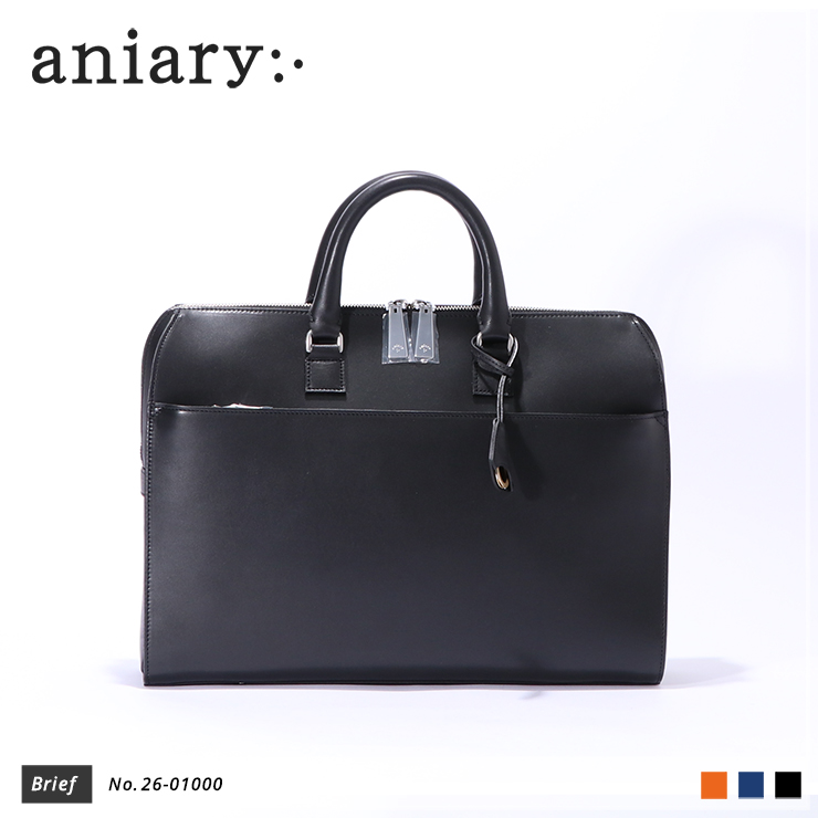 【aniary|アニアリ】ブリーフケース Axis Leather 26-01000 Black