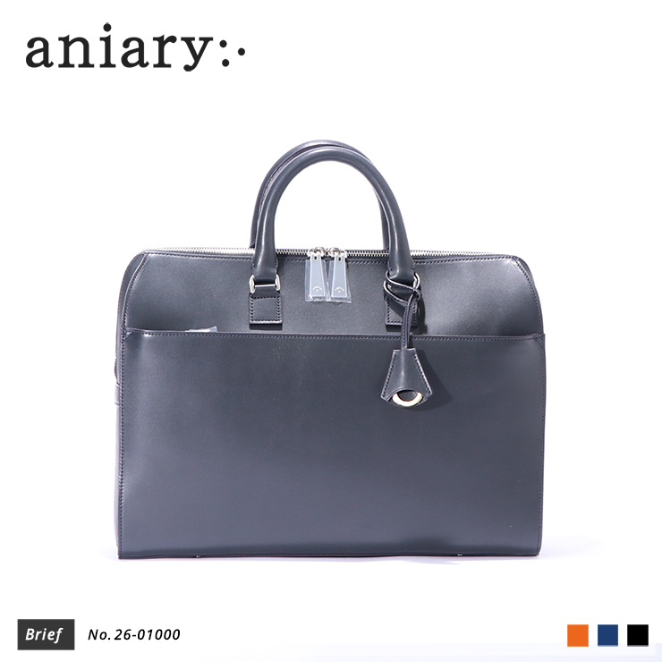【aniary|アニアリ】ブリーフケース Axis Leather 26-01000 Navy