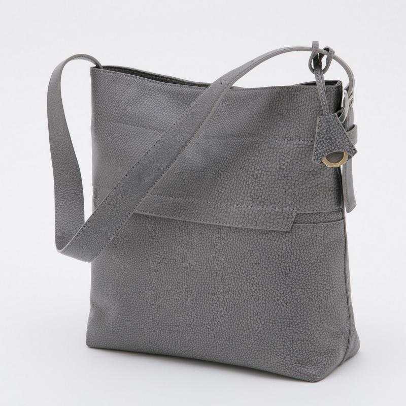 aniary ショルダーバッグ Grind Leather 牛革 Soulderbag 15-03000 グレー GRAY