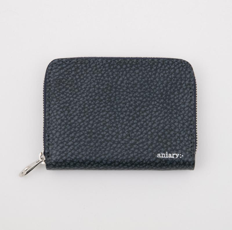 aniaryコインケース Grind Leather 牛革 Coin Case 15-20011 ネイビー Navy