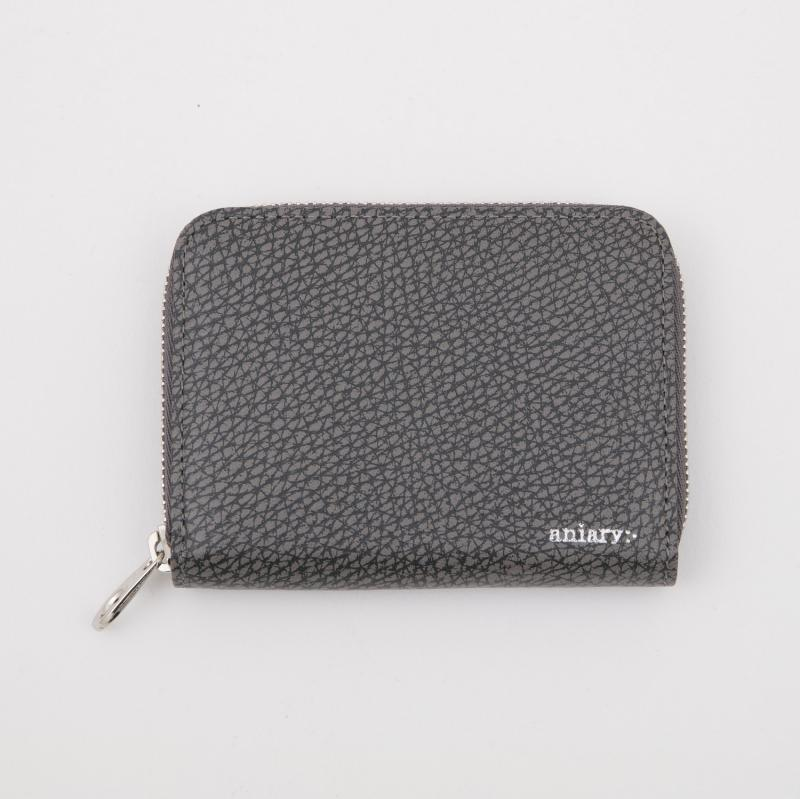 aniaryコインケース Grind Leather 牛革 Coin Case 15-20011 グレー Gray