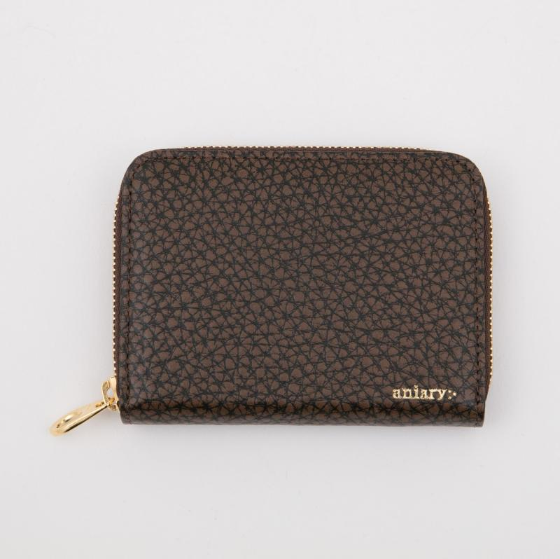 aniaryコインケース Grind Leather 牛革 Coin Case 15-20011 ブラウン Brown