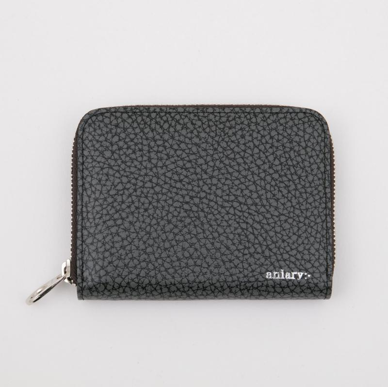 aniaryコインケース Grind Leather 牛革 Coin Case 15-20011 ブラック Black
