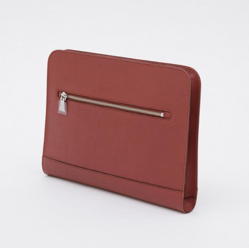 aniary クラッチバッグ Wave Leather 牛革 Clutchbag 16-08001 レッド Red