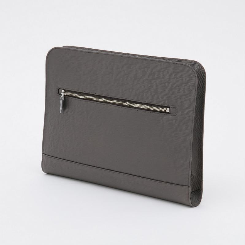 aniary クラッチバッグ Wave Leather 牛革 Clutchbag 16-08001 グレー Gray