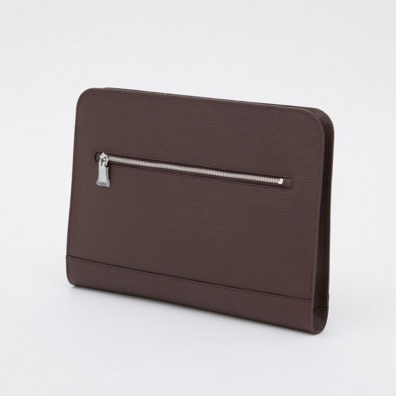 aniary クラッチバッグ Wave Leather 牛革 Clutchbag 16-08001 ブラウン Brown