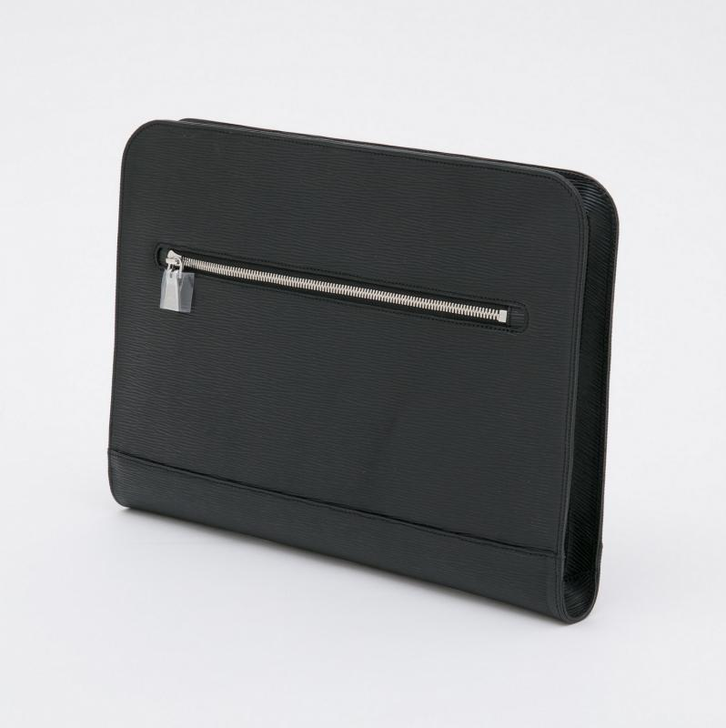 aniary クラッチバッグ Wave Leather 牛革 Clutchbag 16-08001 ブラック Black
