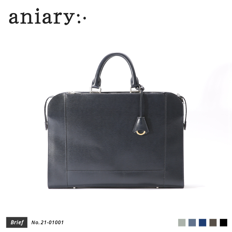 【aniary|アニアリ】ブリーフケース Inheritance Leather 21-01001 Navy