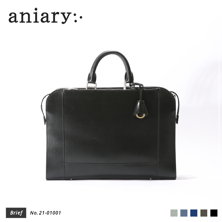【aniary|アニアリ】ブリーフケース Inheritance Leather 21-01001 Black