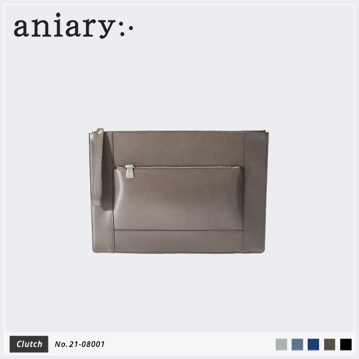 【aniary|アニアリ】クラッチバッグ Inheritance Leather 21-08001 Smoky Brown