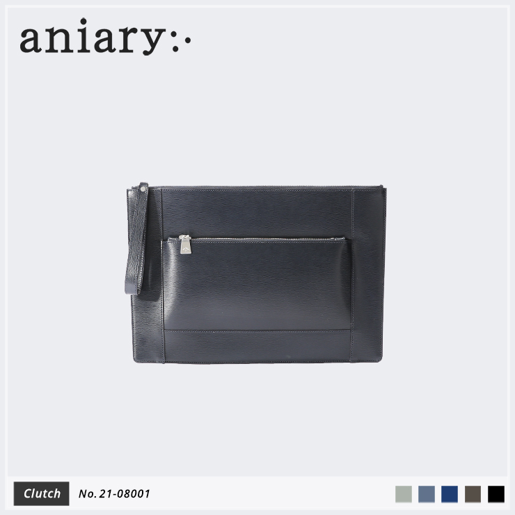 【aniary|アニアリ】クラッチバッグ Inheritance Leather 21-08001 Navy