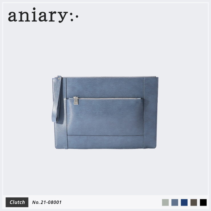 【aniary|アニアリ】クラッチバッグ Inheritance Leather 21-08001 Blue