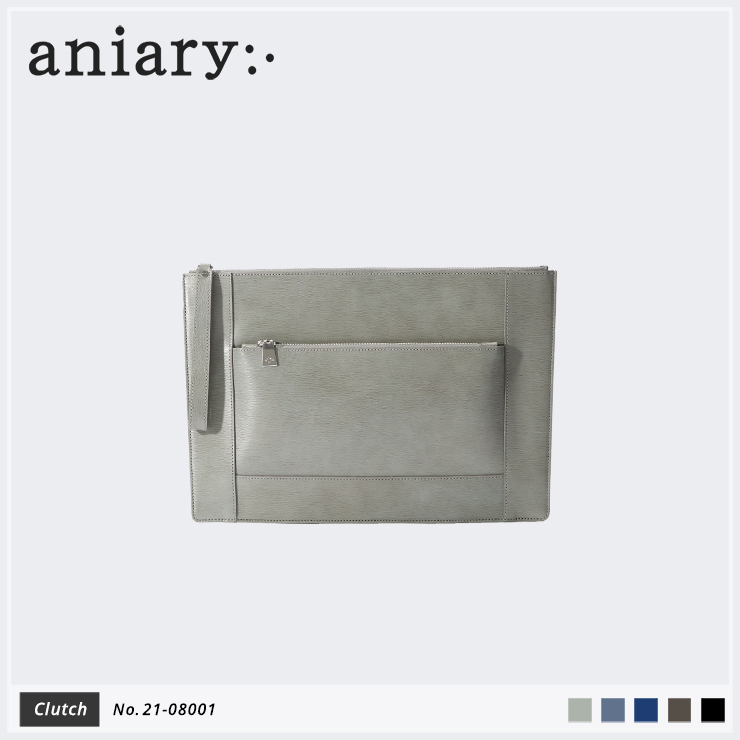 【aniary|アニアリ】クラッチバッグ Inheritance Leather 21-08001 Gray