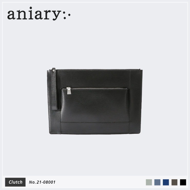 【aniary|アニアリ】クラッチバッグ Inheritance Leather 21-08001 Black