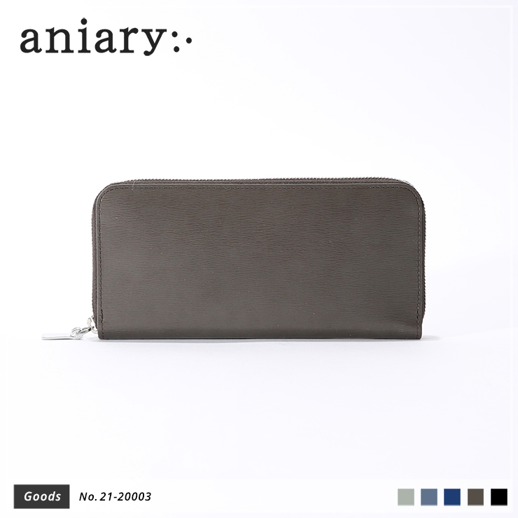 【aniary|アニアリ】ウォレット Inheritance Leather 21-20003 Smoky Brown