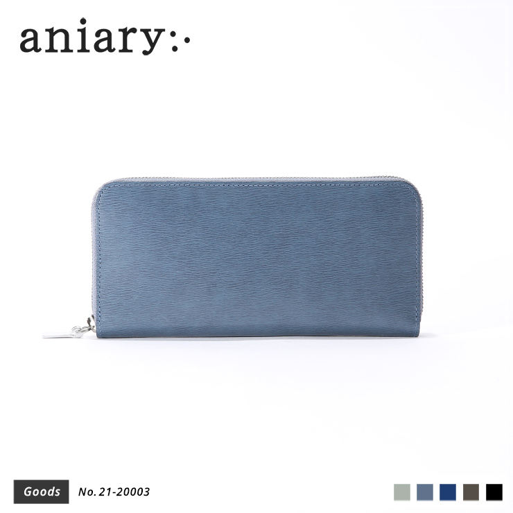 【aniary|アニアリ】ウォレット Inheritance Leather 21-20003 Blue