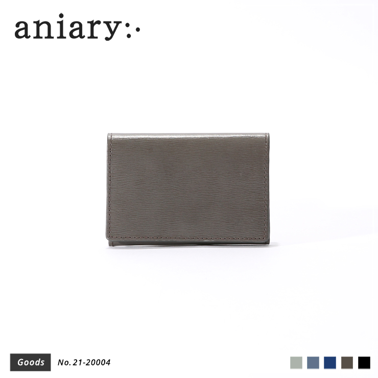 【aniary|アニアリ】カードケース Inheritance Leather 21-20004 Smoky Brown