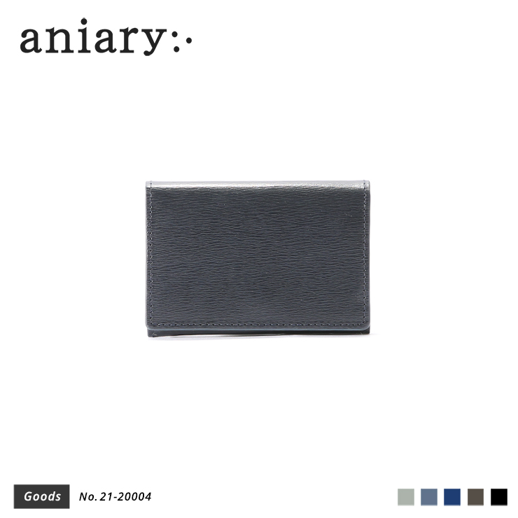 【aniary|アニアリ】カードケース Inheritance Leather 21-20004 Navy