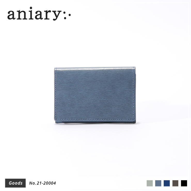 【aniary|アニアリ】カードケース Inheritance Leather 21-20004 Blue